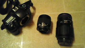 Nikon F60 Camera and lenses