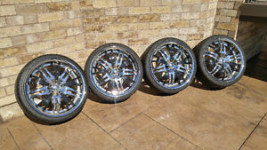 20 Inch STARR Rims W/ SPECTOR Tires 225/35ZR20