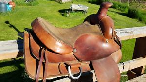 Western Rawhide Roping Saddle