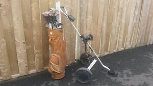 Golf Clubs,Bag and Caddie