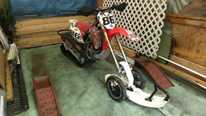 2014 CRF450x with 2017 camso snowtrack