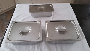 Vollrath buffet serving pans with lids / buffet pans with lids