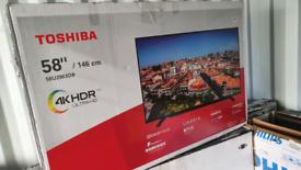 TV BRAND NEW 58INCH TOSHIBA SMART 4K ULTRA HD HDR