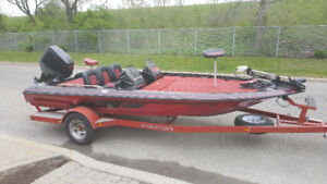 1993 Skeeter 17.6' Bass Boat with a 115 hp Suzuki with trailer
