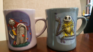 Jack and Sally 3D mug set