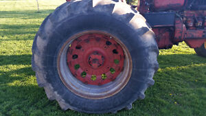 18.4 34 rims tires and hubs