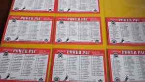 série complet de 376 pogs nhl avec fiche d'inventaire hockey