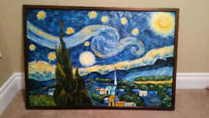 Starry Night (Reproduction) -Hand-Painted oil Painting on Canvas
