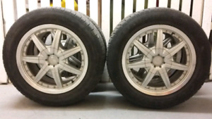 4 Summer tires with mags P185/65/R15