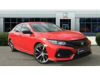 2017 Honda Civic 1.0 VTEC Turbo SR 5dr CVT Petrol Hatchback Auto Hatchback Petro