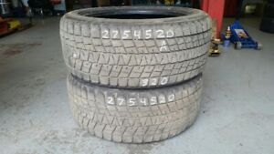Pair of 2 Bridgestone Blizzak DMV 275/45R20 WINTER tires (75% tr