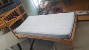 Solid Wood Bed and Matress