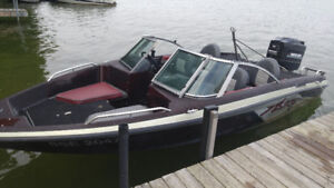 Bass Boat with 150 Merc Motor with trailer