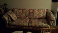 Set of 2 place sofa Bed and Armchair