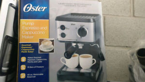 Oster Pump Espresso Maker, Black/Stainless and Cappuccino Maker