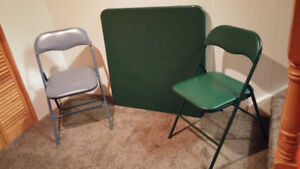 Folding Card Table and 2 chairs, $20!