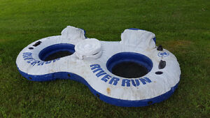 Intex River Run 2 Sport Lounge Inflatable 2 Person Water Float