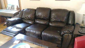 Sofa simili cuir 3 places