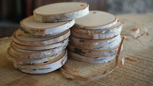 White Birch Wood Slices / Rounds / Slabs - Various Sizes