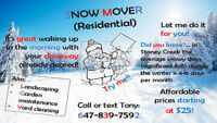 Snow mover (residential). Stoney Creek