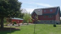 Water Front Cedar Log Home W 6.25 Acres OPEN for OFFERS