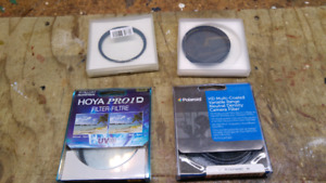 Camera Lens Filters - 62mm UV, ND and CPL