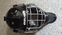 Bauer NME3 Black Goalie Mask used one year.