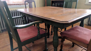 Dining room set (antique) - tables/chairs, hutch, cabinet
