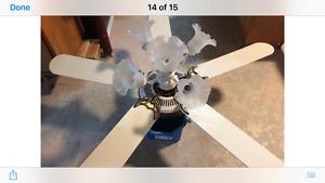 White Ceiling Fan $20