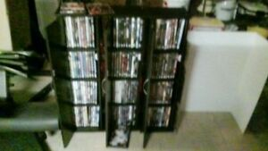 150 + DVD's and three cabinets