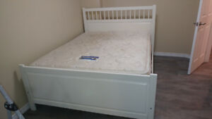 White queen bed frame Ikea Malm series
