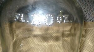 "ANTIQUE VERY OLD ""80 FLOW OZ'S CLEAR GLASS MOONSHINE JUG"" 1839 Kitchener / Waterloo Kitchener Area image 4"
