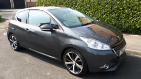 62 Plate PEUGEOT 208 1.6 FELINE 115bhp £0 Tax 60mpg Top of the range!