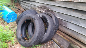 (4) 285/60r20 Firestone Transforce AT tires