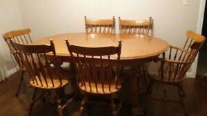 solid Maple dining room table