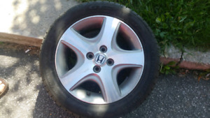 Aluminium ( rims + tires ) 205 50 15 for Honda
