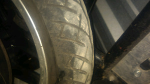 Motorcycle tires and rims