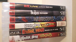 GUITAR HERO/ROCK BAND GAMES PS3