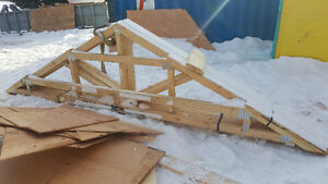 13' x 22' trusses for shed