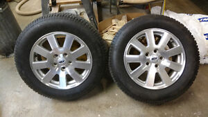 Ford custom rims with studded winter tires