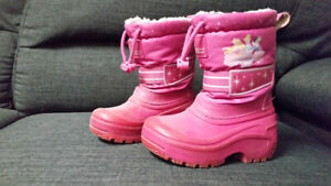 Toddler girls size 7 disney princess winter boots