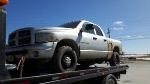 PARTING OUT 2003 DODGE RAM 2500 4X4  DIESEL 6 SPEED