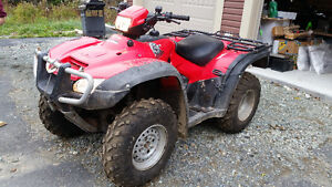 2011 HONDA FOREMAN 500 4X4 REDUCED TO 3999 FIRM St. John's Newfoundland image 2