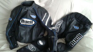 Buell Leather Jacket & Pants (2pc Racing Suit)