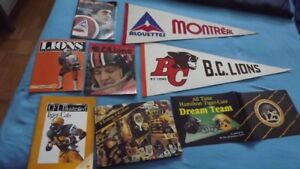 2 MONTREAL ALOUTTES CFL  ITEMS:VINTAGE PENNANT & MAGAZINE