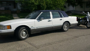 1992 LINCOLN TOWN CAR IN EXCELLENT SHAPE AND 1940 PLYMOUTH P10