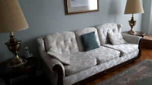 MEDITERREAN SOFA, CHAIR, END TABLES AND LAMPS