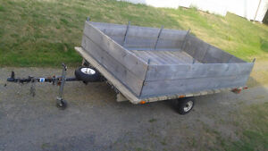 A very sturdy trailer-wide and great suspension