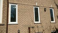 Brick,concrete cut outs for windows and doors