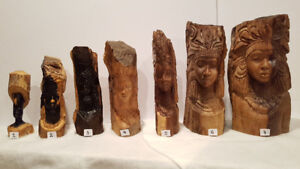 African woodcarving,woman's head,collection for sale,starting at